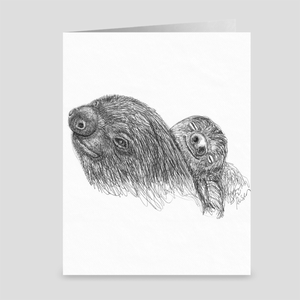 "Sloth ""Afternoon Nap"" - Greeting Card"