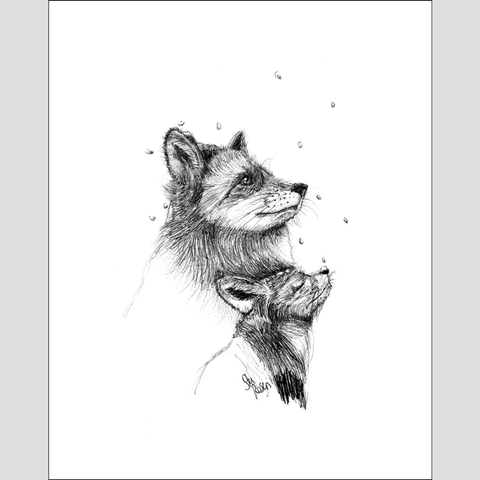 "Fox ""First Snow"" - Giclee Print"
