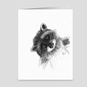 "Raccoon ""Hi There!"" - Greeting Card"