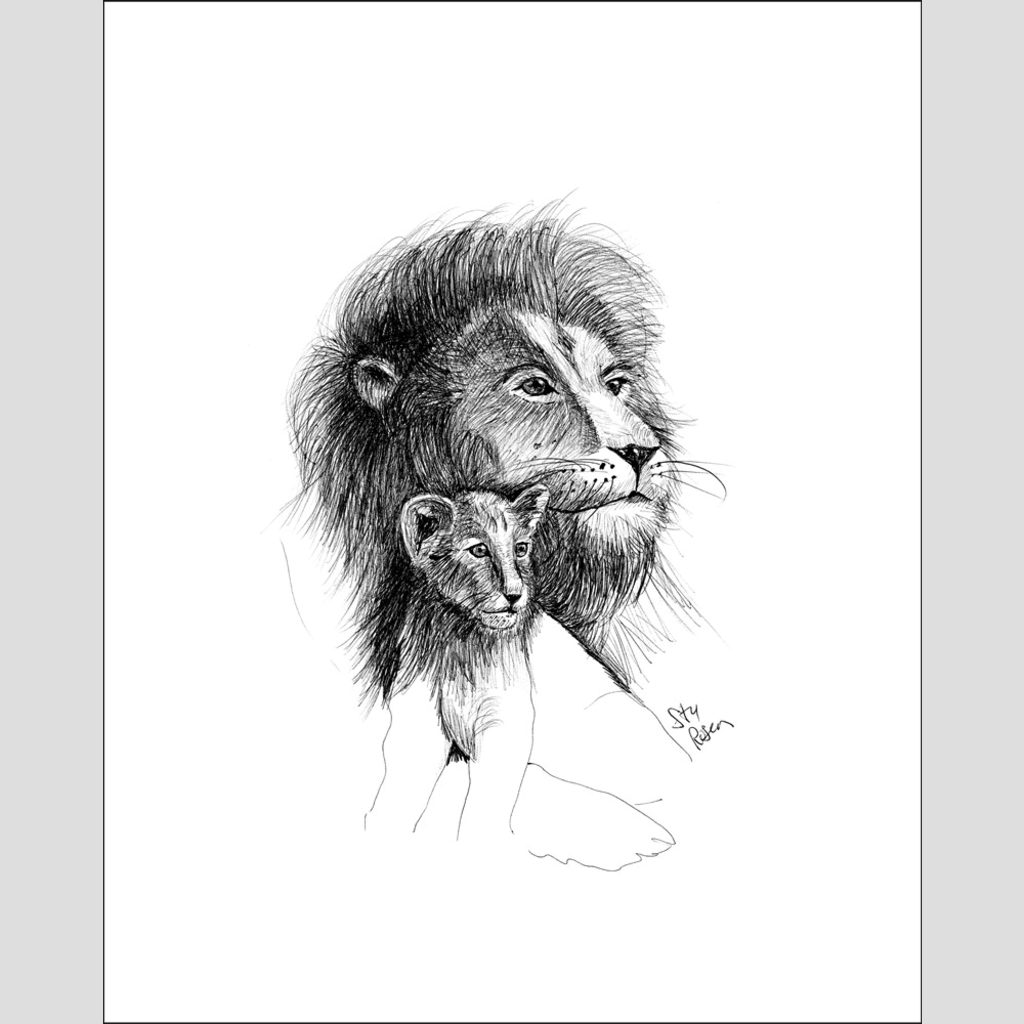 "Lion ""One Day"" - Giclee Print"