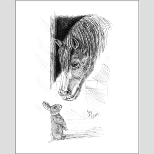 "Horse & Bunny ""Spring"" - Giclee Prints"