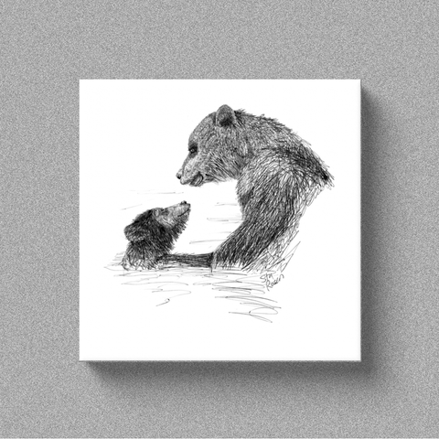 "Bear ""First Swim"" - Canvas"