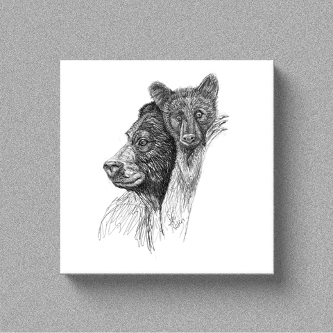 "Bear ""Lookout"" - Canvas"