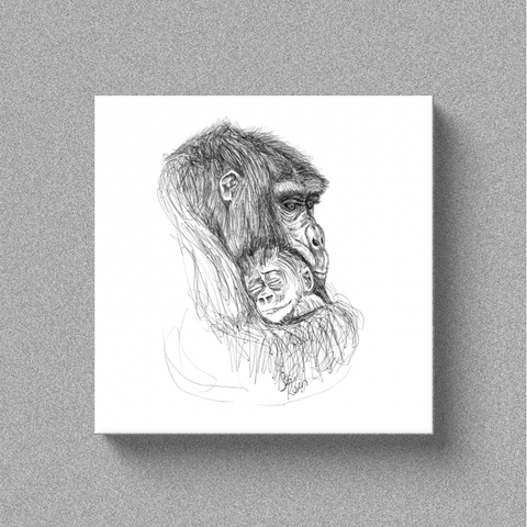 "Chimp ""An Angel in the Arms"" - Canvas"