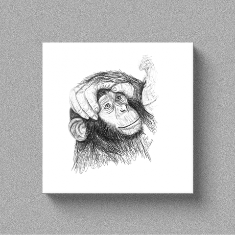 "Chimp ""Loving Hand"" - Canvas"