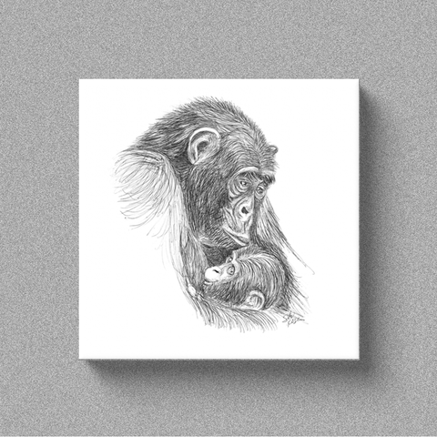 "Chimp ""A Mother's Love"" - Canvas"