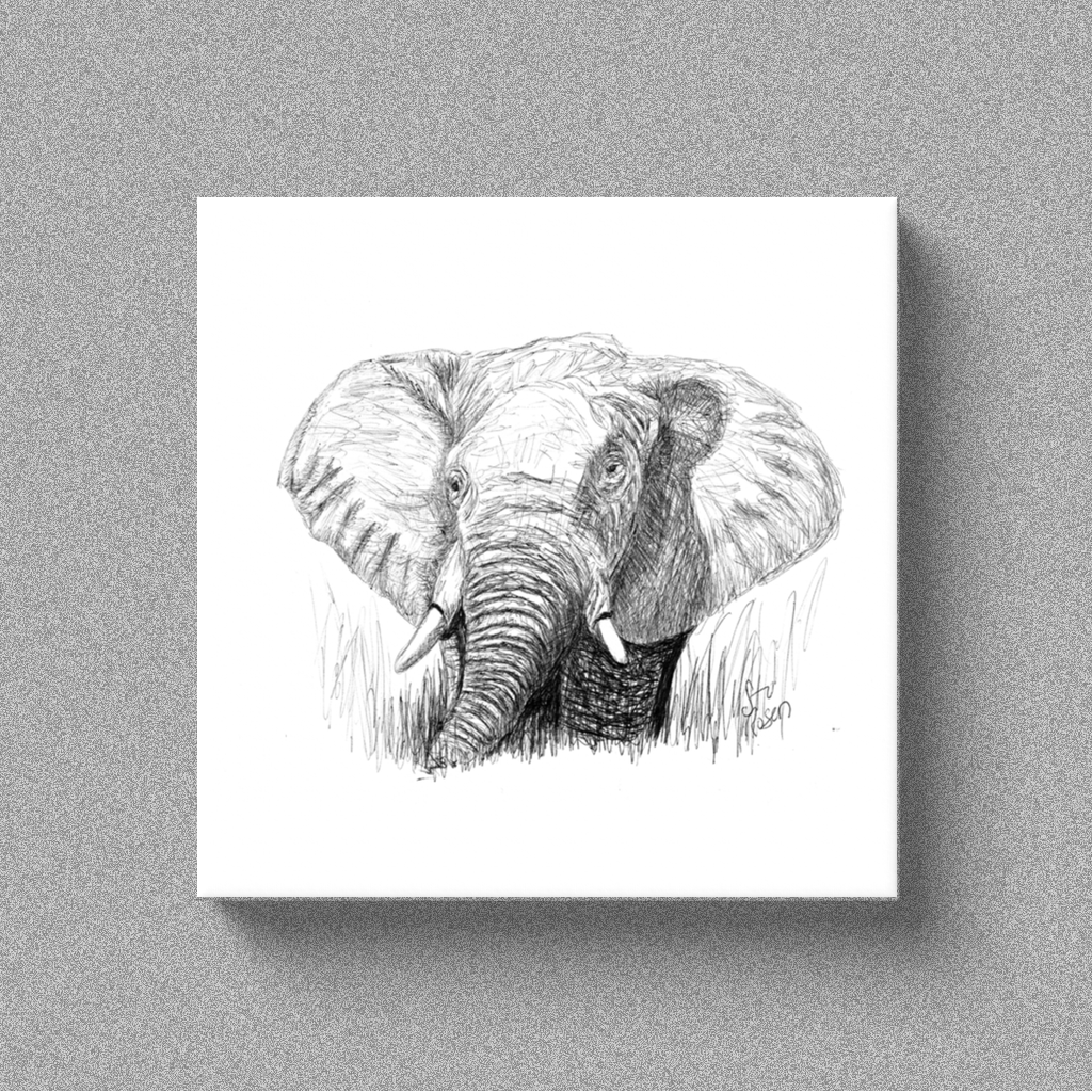 "Elephant ""Your Majesty"" - Canvas"