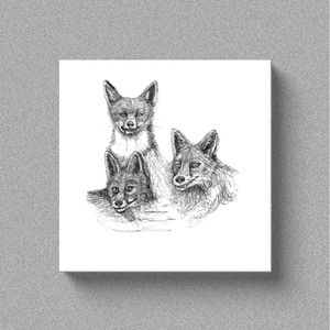 "Fox ""Amigos"" - Canvas"