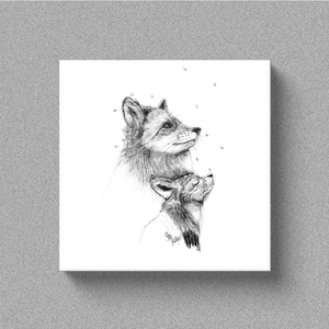 "Fox ""First Snow"" - Canvas"