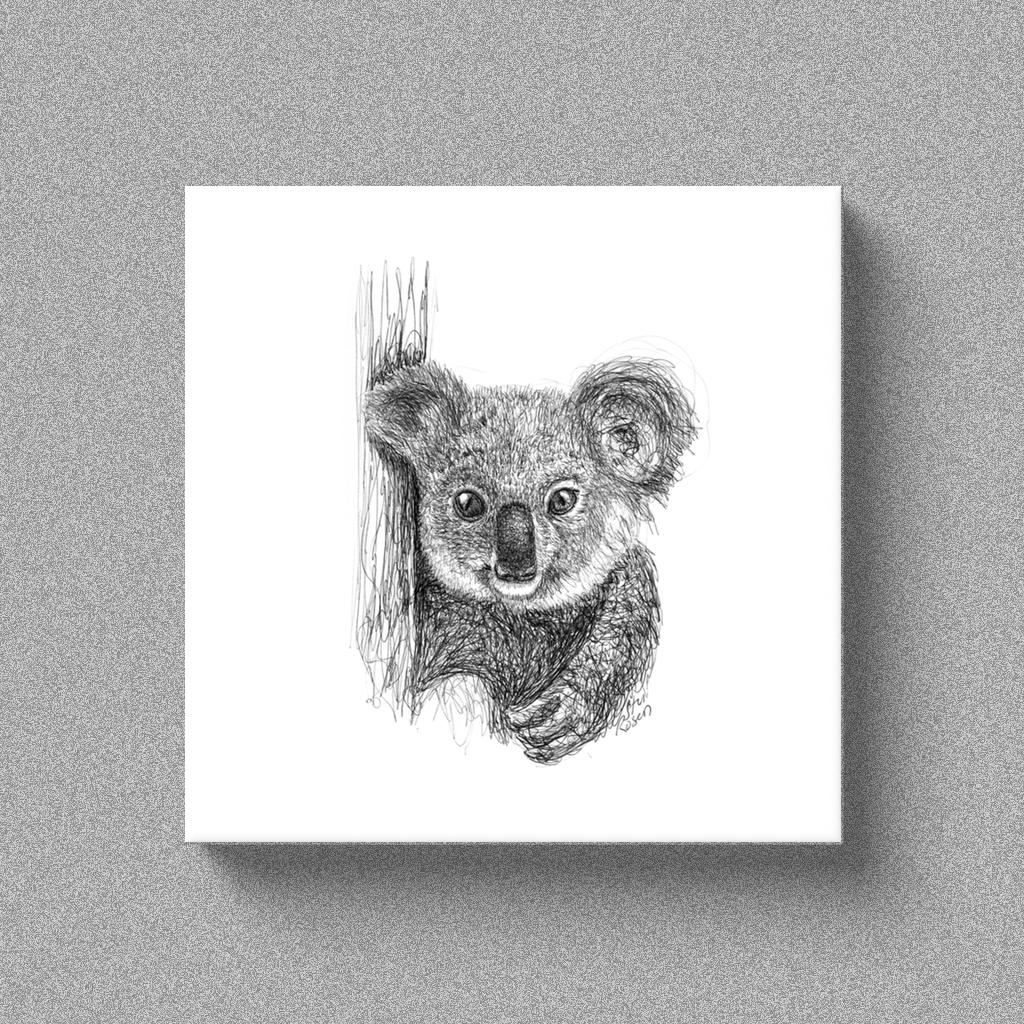 "Koala ""Feeling Cute"" - Canvas"
