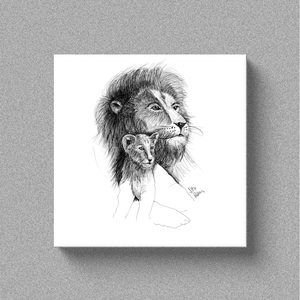 "Lion ""One Day"" - Canvas"