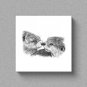"Otter ""An Otter Kiss"" - Canvas"