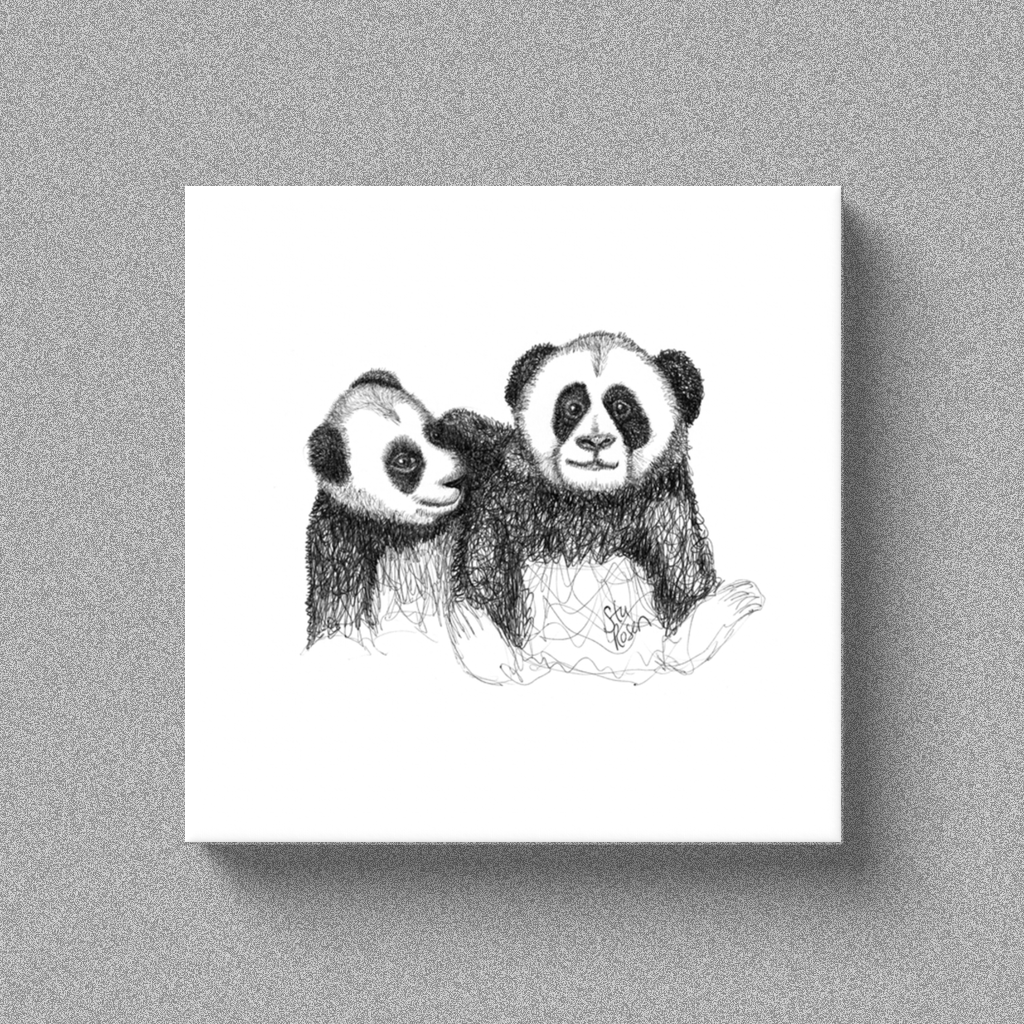 "Panda ""Salt and Pepper Set"" - Canvas"