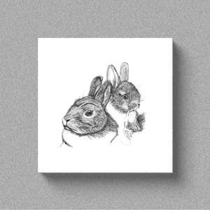 "Rabbit ""Some Bunny Loves You"" - Canvas"