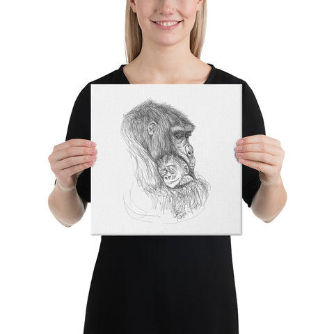 "Chimp ""Angel in the Arms"" - Canvas"
