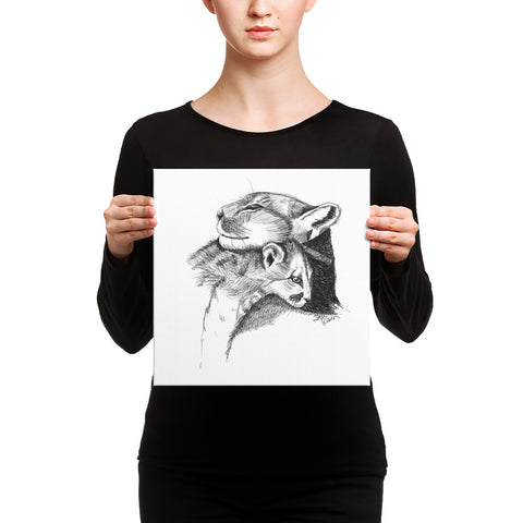 "Cougar ""Loving Embrace"" - Canvas"