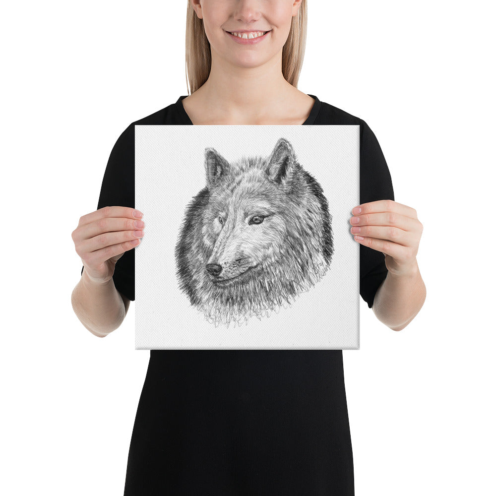 "Wolf ""Aware"" - 12' x 12' Canvas"