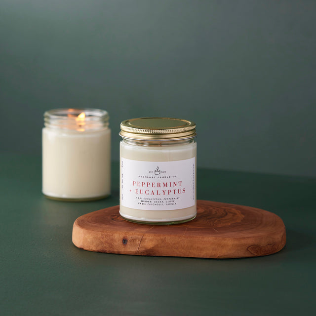 Peppermint + Eucalyptus Soy Candle
