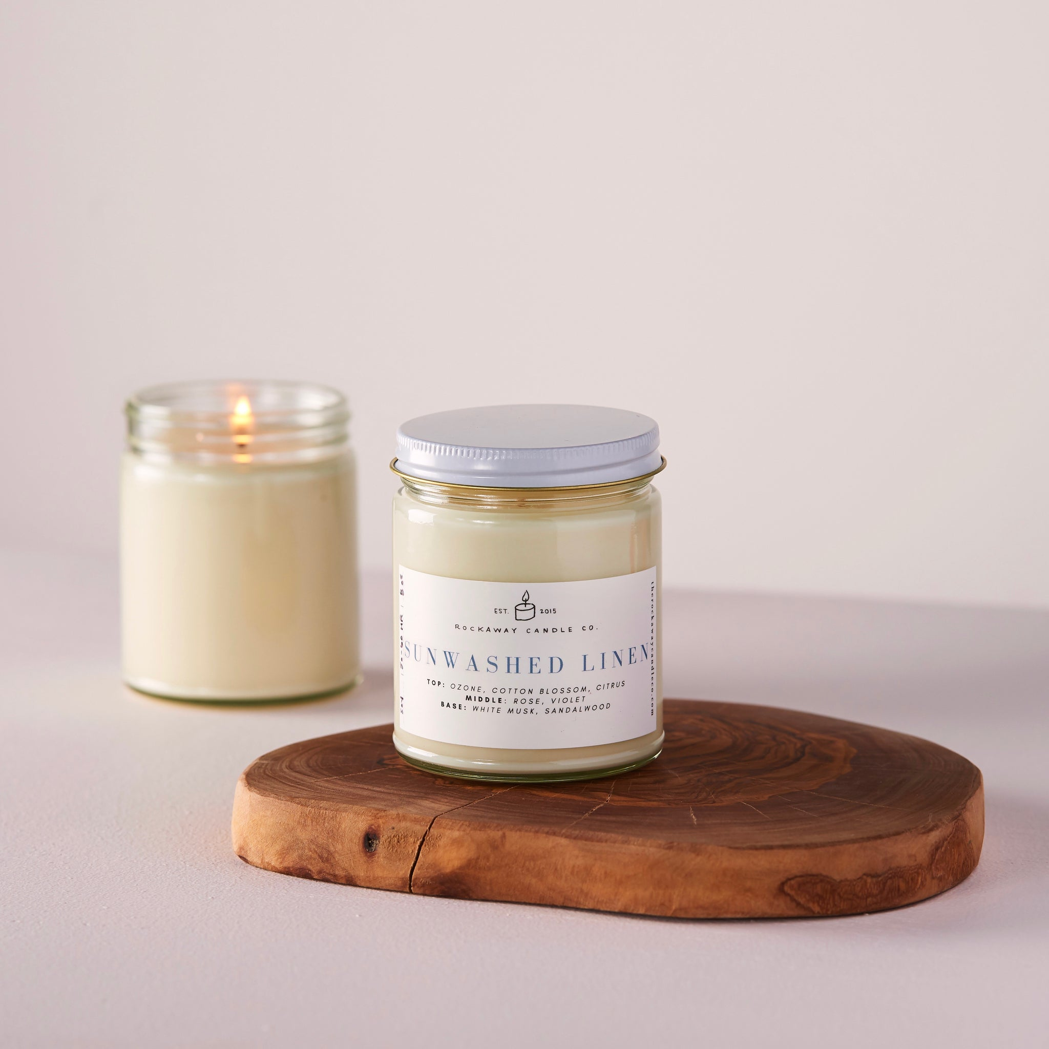 Sunwashed Linen Soy Candle