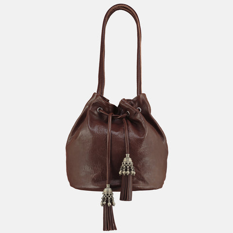 NOA  Large Bucket Bag - Brown