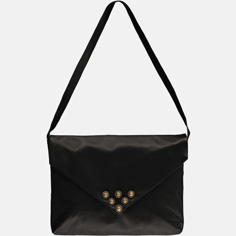 MAYA – Studded Envelope Bag -Black