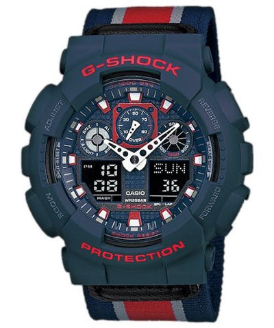 Casio G-Shock Analog-Digital Watch - GA-100MC-2ADR (G472) - Fragume.com