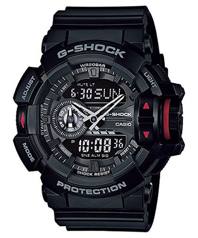 Casio G-Shock Analog-Digital Black Dial Men's Watch - GA-400-1BDR (G566) - Fragume.com