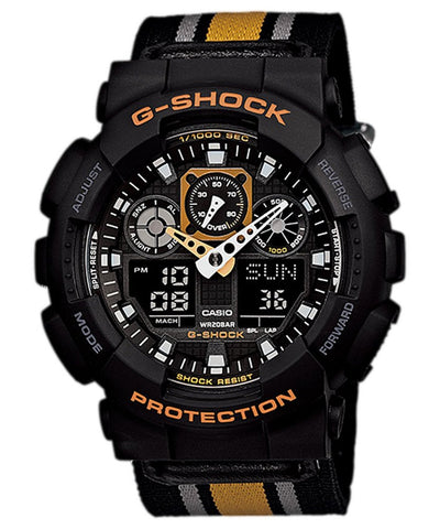 Casio G-Shock Analog-Digital Multi-Color Dial Watch - GA-100MC-1A4DR (G470) - Fragume.com