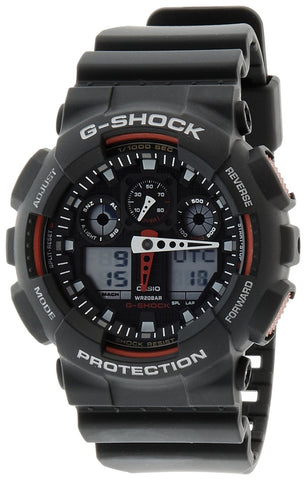 Casio G-Shock Analog-Digital Black Dial Watch - GA-100-1A4DR (G272) - Fragume.com