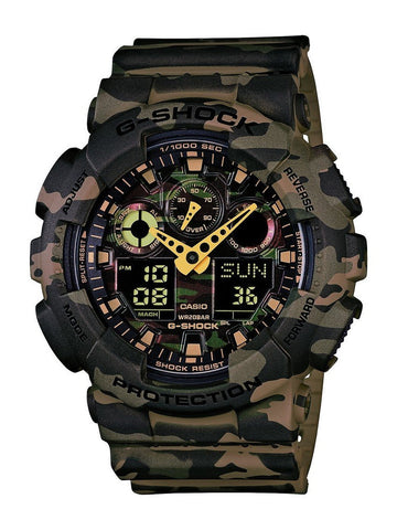 Casio G-Shock Analog-Digital Green Dial Watch - GA-100CM-5ADR(G580) - Fragume.com