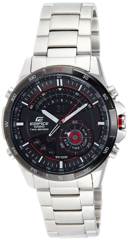 Casio Edifice Analog-Digital Black Dial Watch - ERA-200DB-1AVDR (EX106) - Fragume.com