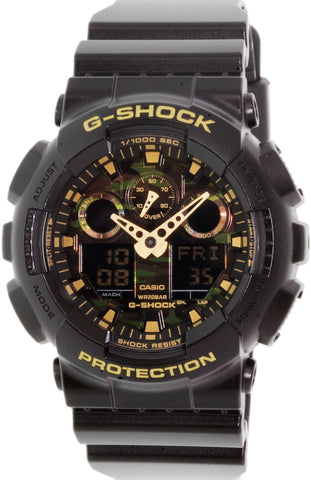 Casio G-Shock World time Analog-Digital Multi-Colour Dial Men's Watch - GA-100CF-1A9DR (G519) - Fragume.com
