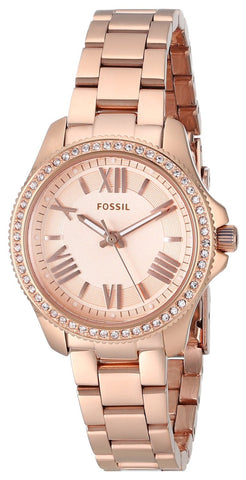 Fossil Cecile Small Three-Hand Rose Stainless Steel Watch - AM4578 - Fragume.com