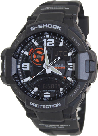 Casio G-Shock Analog Black Dial Watch - GA-1000-1ADR (G435) - Fragume.com