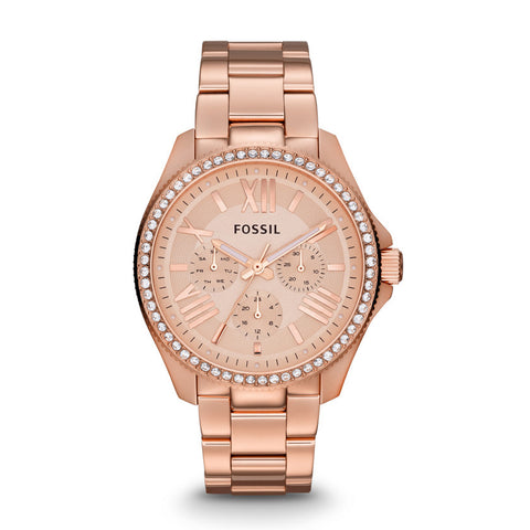 Fossil Cecile Multifunction Rose Gold-Tone Stainless Steel Watch - AM4483 - Fragume.com