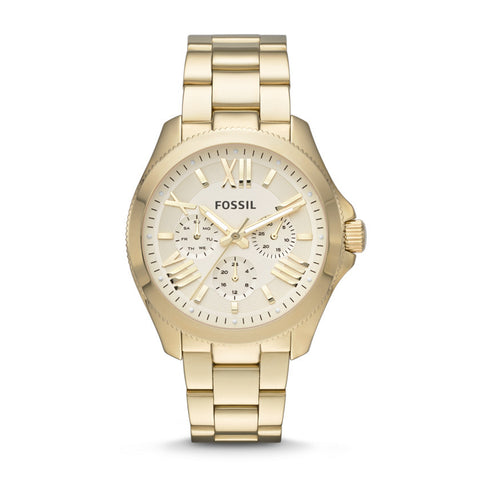 Fossil Cecile Multifunction Gold-Tone Stainless Steel Watch - AM4510 - Fragume.com