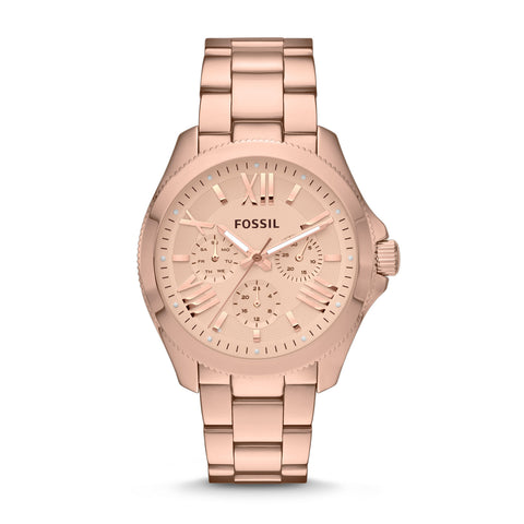 Fossil Cecile Multifunction  Rose Gold-Tone Stainless Steel Watch - AM4511 - Fragume.com