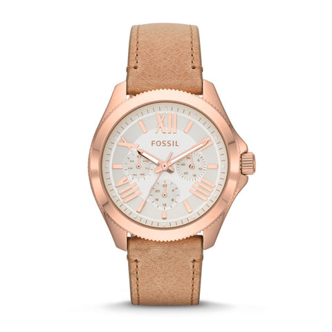 Fossil Cecile Multifunction Sand Leather Watch - AM4532 - Fragume.com