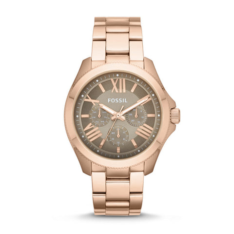 Fossil Cecile Multifunction Stainless Steel Rose Gold-Tone Watch - AM4533 - Fragume.com
