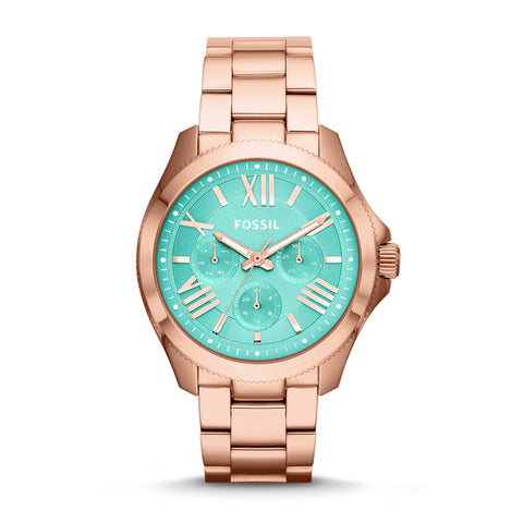 Fossil Cecile Multifunction Rose-Tone Stainless Steel Watch - AM4540 - Fragume.com