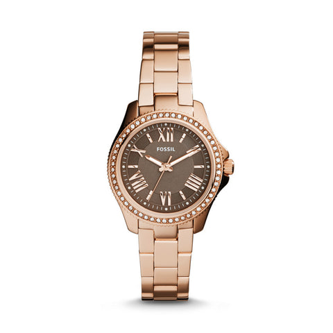Fossil Cecile Small Three-Hand Stainless Steel Watch - Rose Gold-Tone  AM4615 - Fragume.com