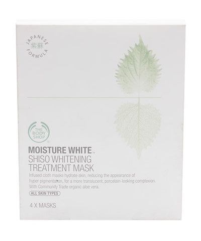 The Body Shop Moisture White Shiso Whitening Treatment Mask (4 items) - Fragume.com