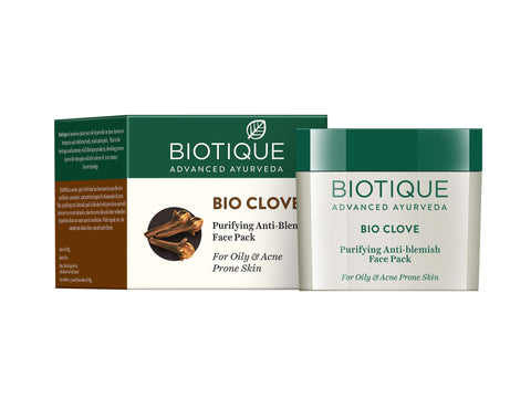 Biotique Clove Oil And Wild Turmeric Anti - Blemish Face Pack (175gm)