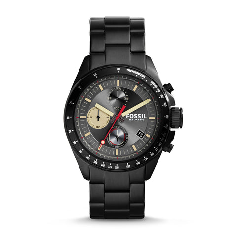 Fossil Decker Chronograph Black Dial Stainless Steel Watch - CH2942 - Fragume.com