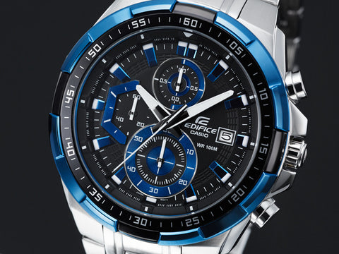 Casio Edifice Stopwatch Chronograph Multi-Color Dial Men's Watch - EFR-539D-1A - Fragume.com