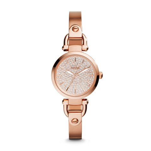Fossil Georgia Three-Hand Stainless Steel Watch - Rose - ES3675 - Fragume.com