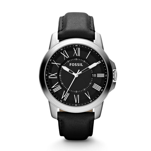 Fossil Grant Analog Black Dial Men's Watch- FS4745 - Fragume.com