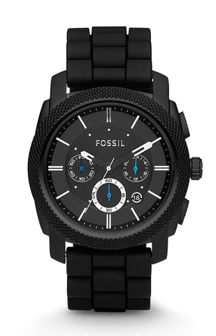 Fossil Machine Black Stainless Steel Watch - FS4487 - Fragume.com