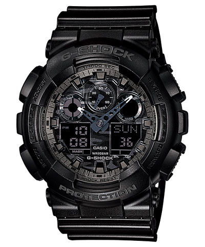 Casio G-Shock World time Analog-Digital Black Dial Men's Watch - GA-100CF-1ADR (G520) - Fragume.com