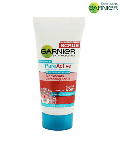 Garnier Skin Naturals Pure Active Blackheads Uprooting Scrub (100g) - Fragume.com